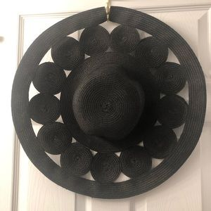 Anthropologie Black Beach Hat